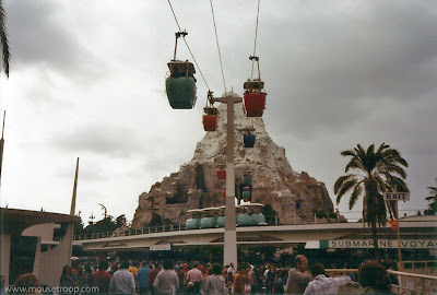 Matterhorn Skyway Peoplemover Disneyland original 1970's