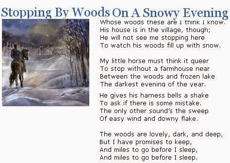 "critical analysis of robert frosts, stopping by woods on a snowy evening essay In this essay i will look at two robert frost poems in detail - robert frost's poems analysis  discuss is called ""stopping by woods on a snowy evening."