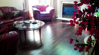 rustic handscraped hardwood dark stained acacia engineered
