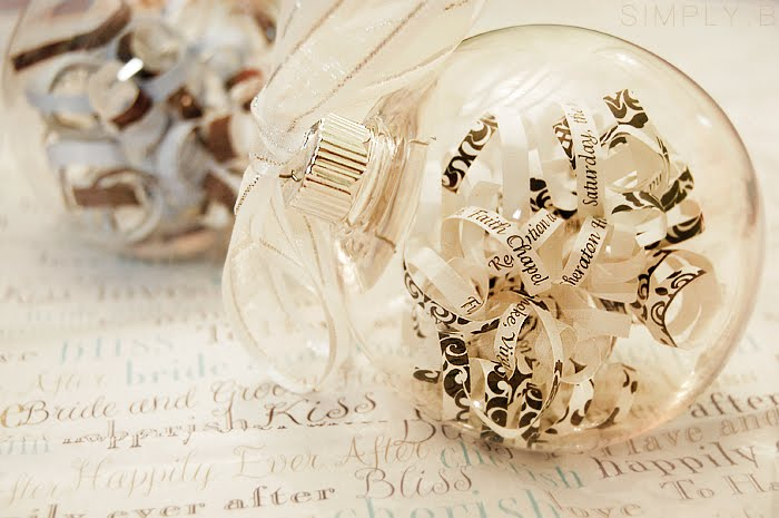 Wedding Invitation Ornaments by Simply B