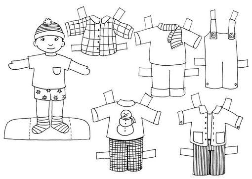 Muñecas recortables para imprimir y colorear - Imagui