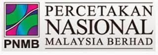 Jawatan Kosong Di Percetakan Nasional Malaysia Berhad PNMB