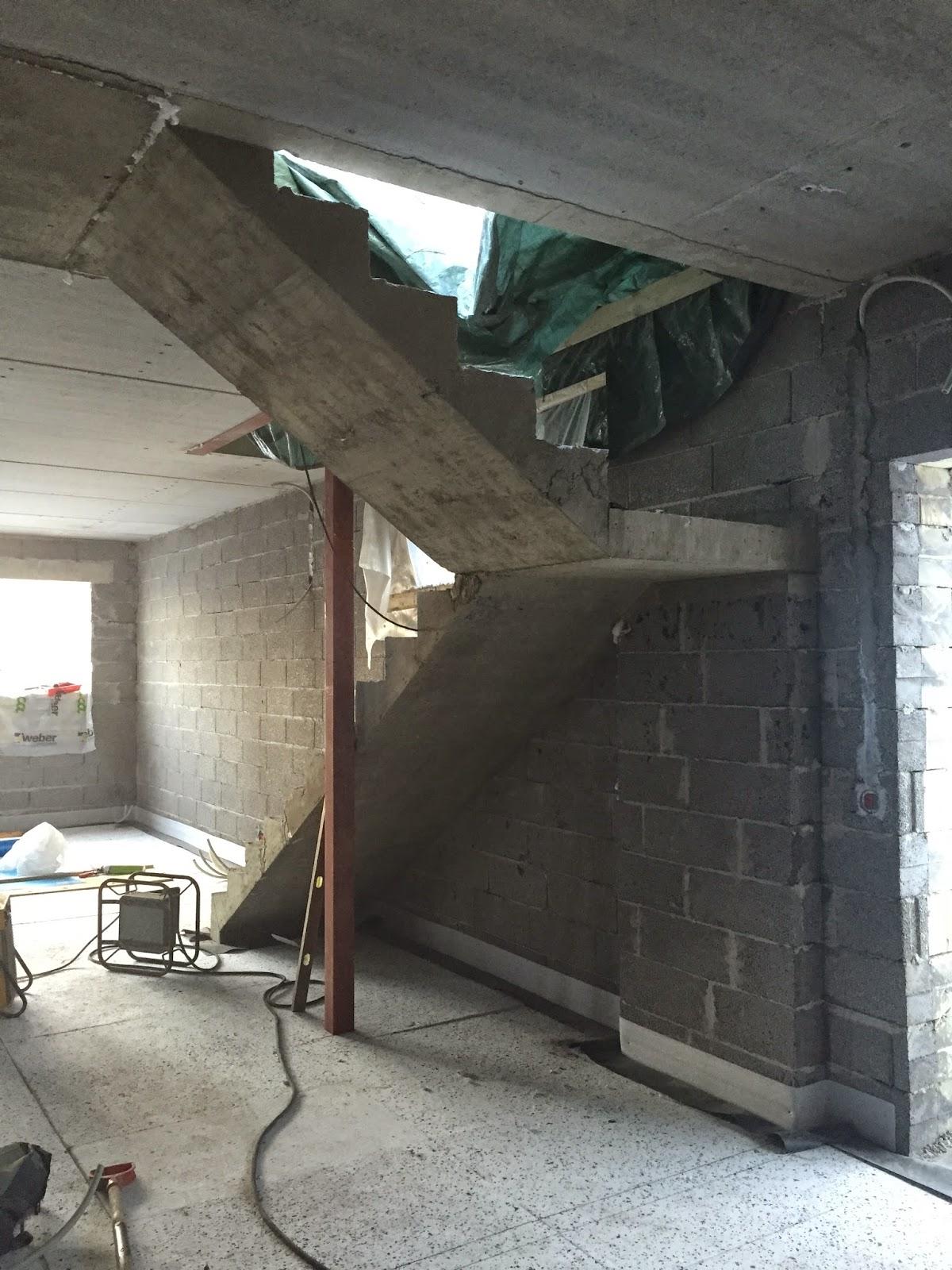 Paikalla valetut betoniportaat