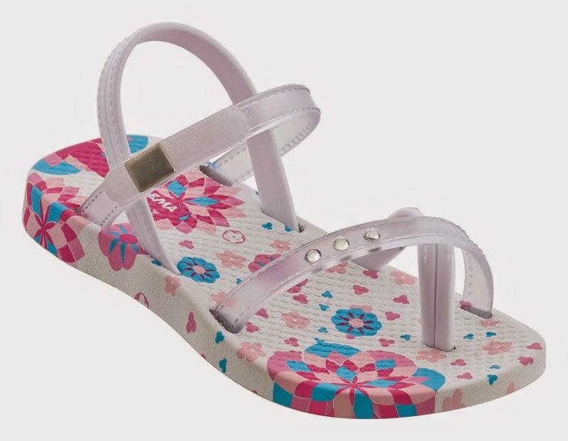 Ipanema Premium Sandalen weiß mit Zehensteg und Glitzersteinen für Babys