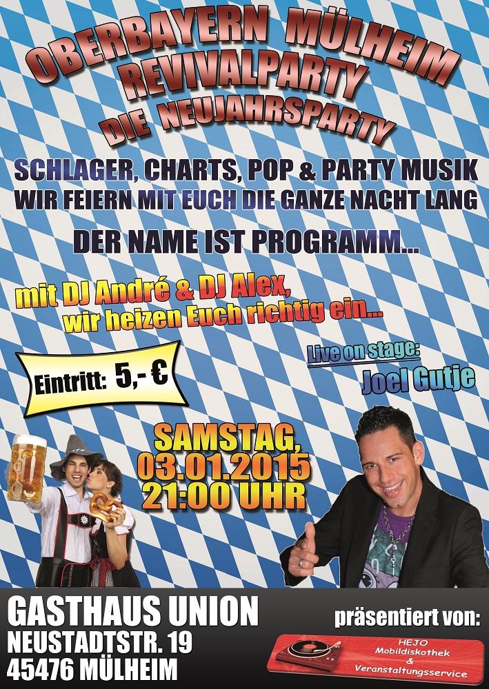 Bild: Oberbayern Mülheim Revivalparty Flyer