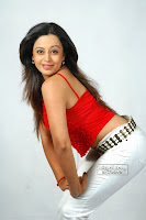 Neha Pendse Marathi Actress in Lovely Red Small Tank Top and White Denim Portfolio Pics