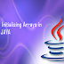How to Create Initialising Arrays in Java?