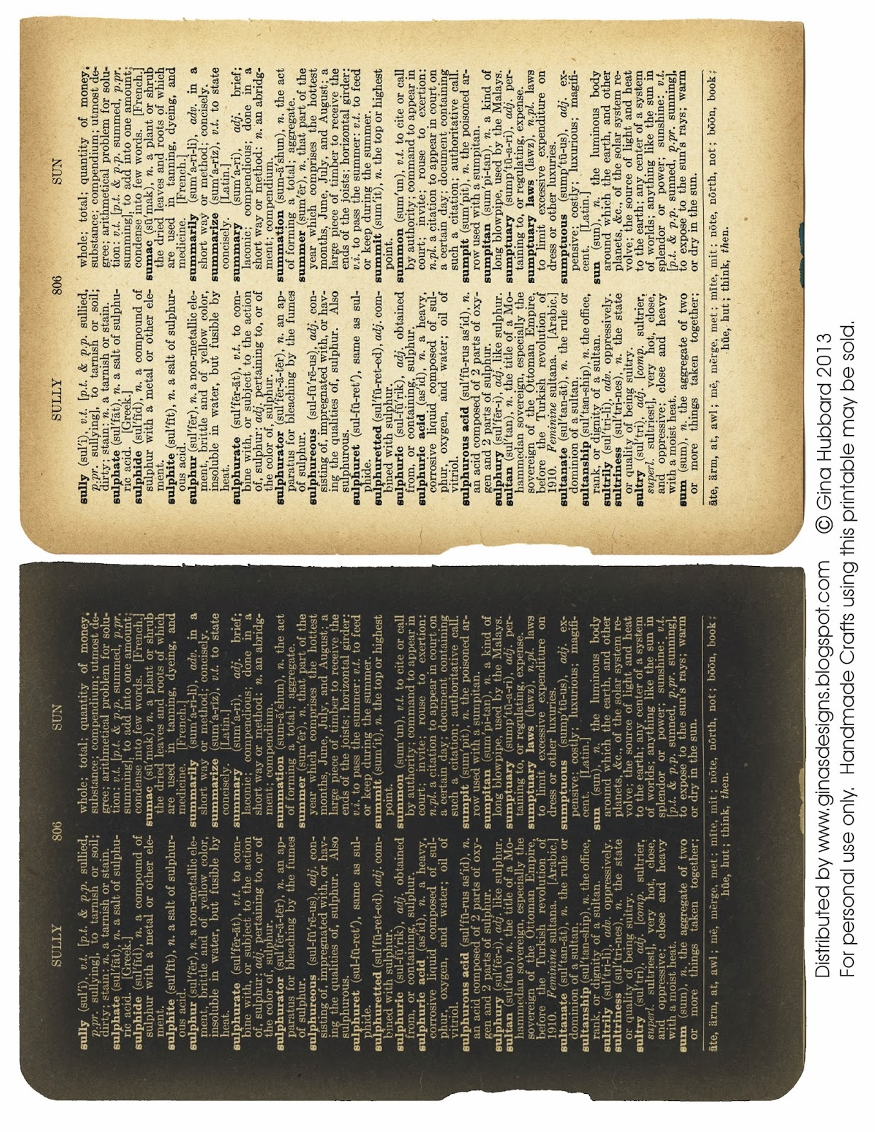 picture about Printable Dictionary Pages called Ginas Types: Freebie Friday Dictionary Internet pages