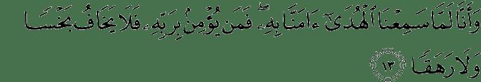 Surat Al-Jin Ayat 13