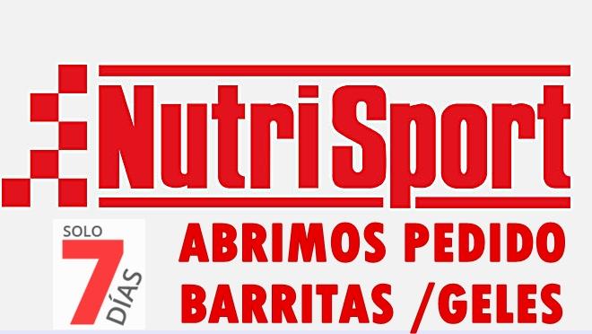 ABRIMOS PEDIDOS A NUTRISPORT
