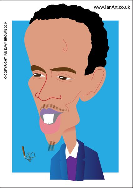 Barkhad Abdi caricature