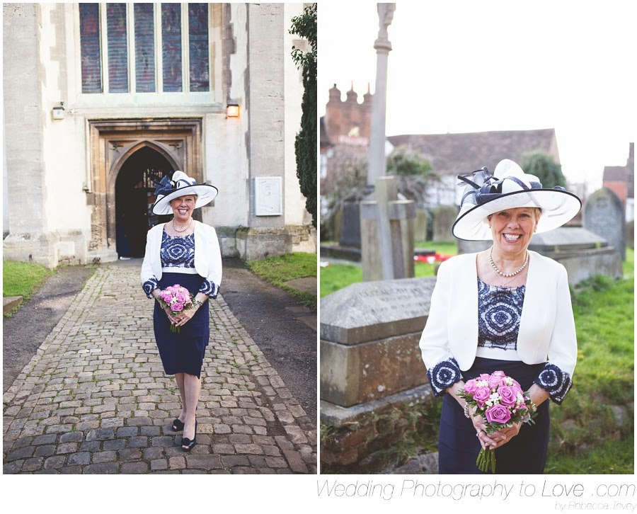 bride outside wokingham all saints church