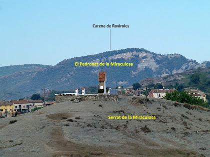 El Serrat de la Miraculosa des de la masia de la Casanova