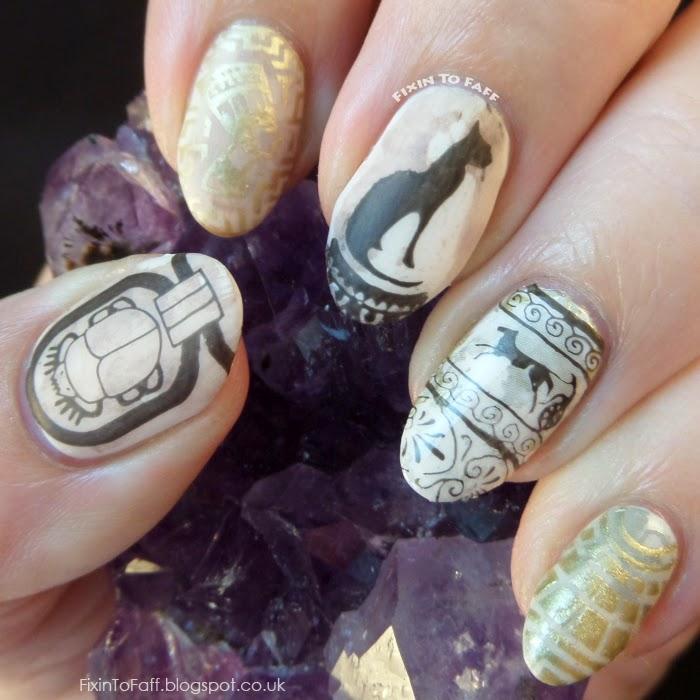Cleopatra nail art