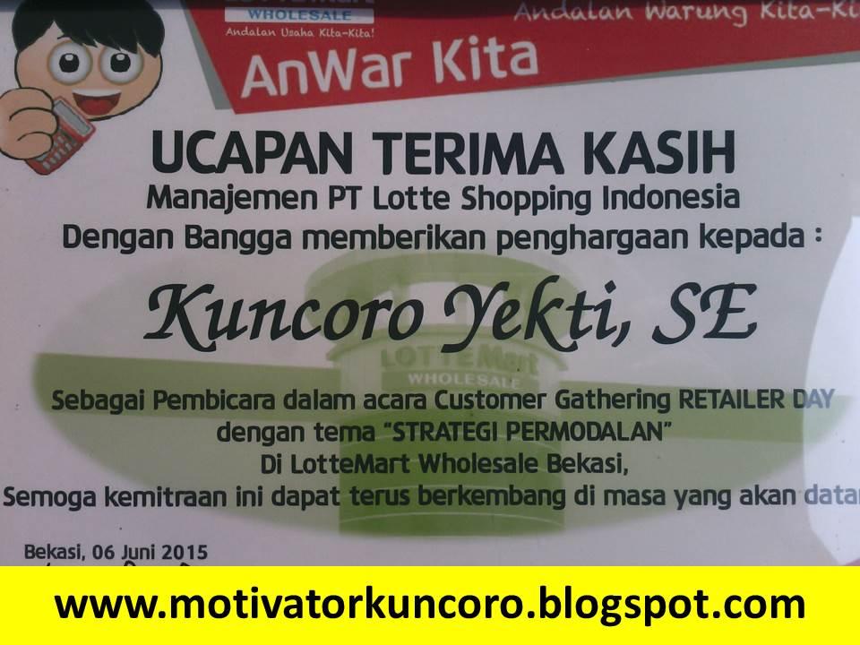 Apresiasi dari LotteMart Indonesia.