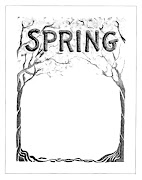 Vintage Advertising Clip Art: Digital Background for Spring Clip Art