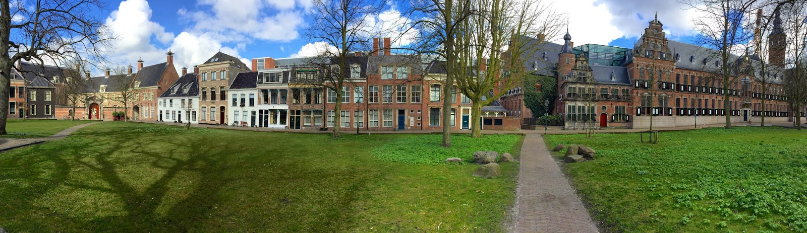 Panorama view of the Martinikerkhof in Groningen.