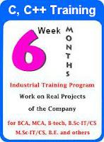 C, C++ Six Week Summer Training Programme