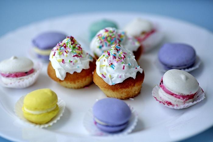 cupcakes, makrónky, macarons, homemade, domácí