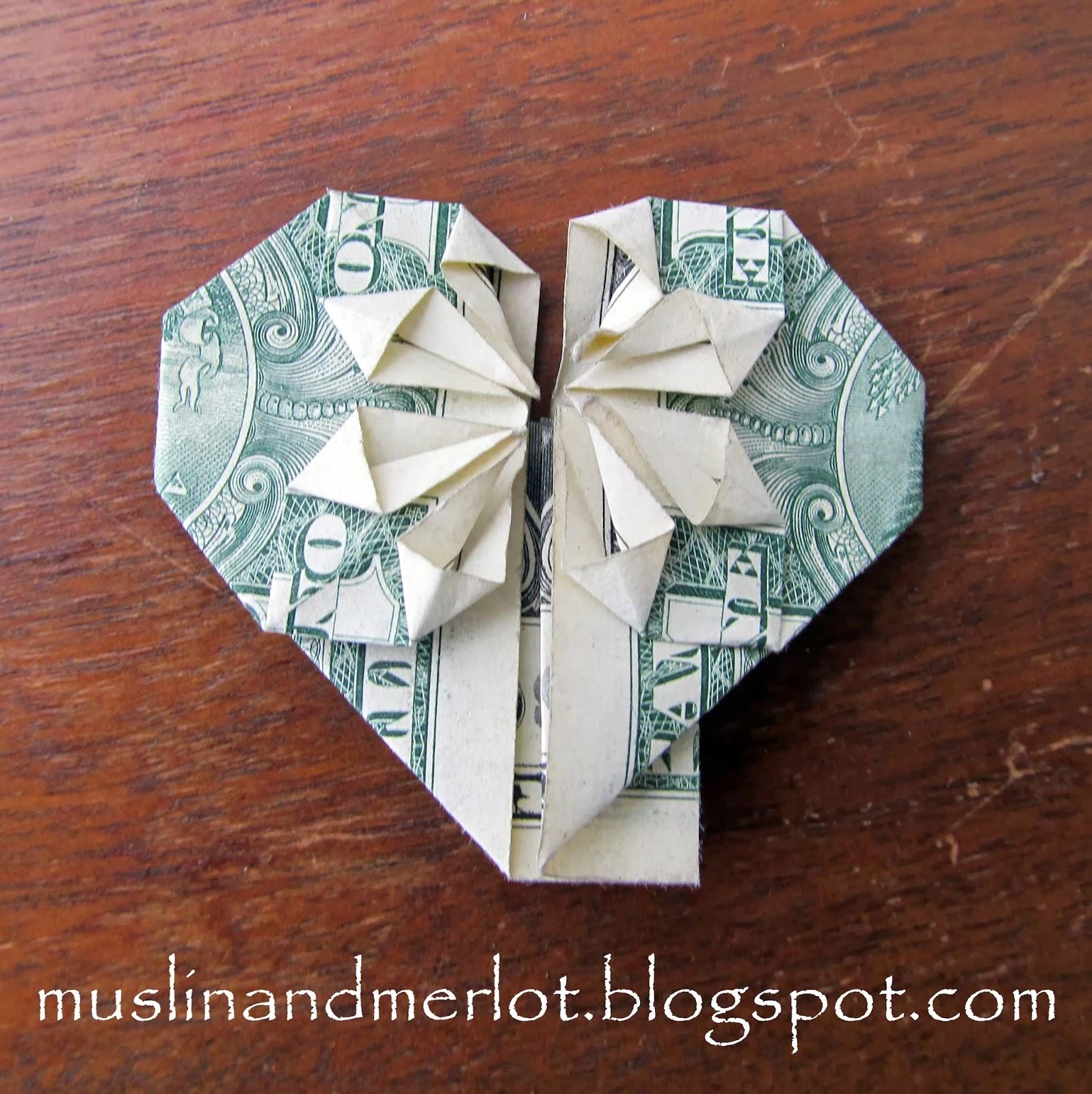 Сердце из денег мастер класс фото