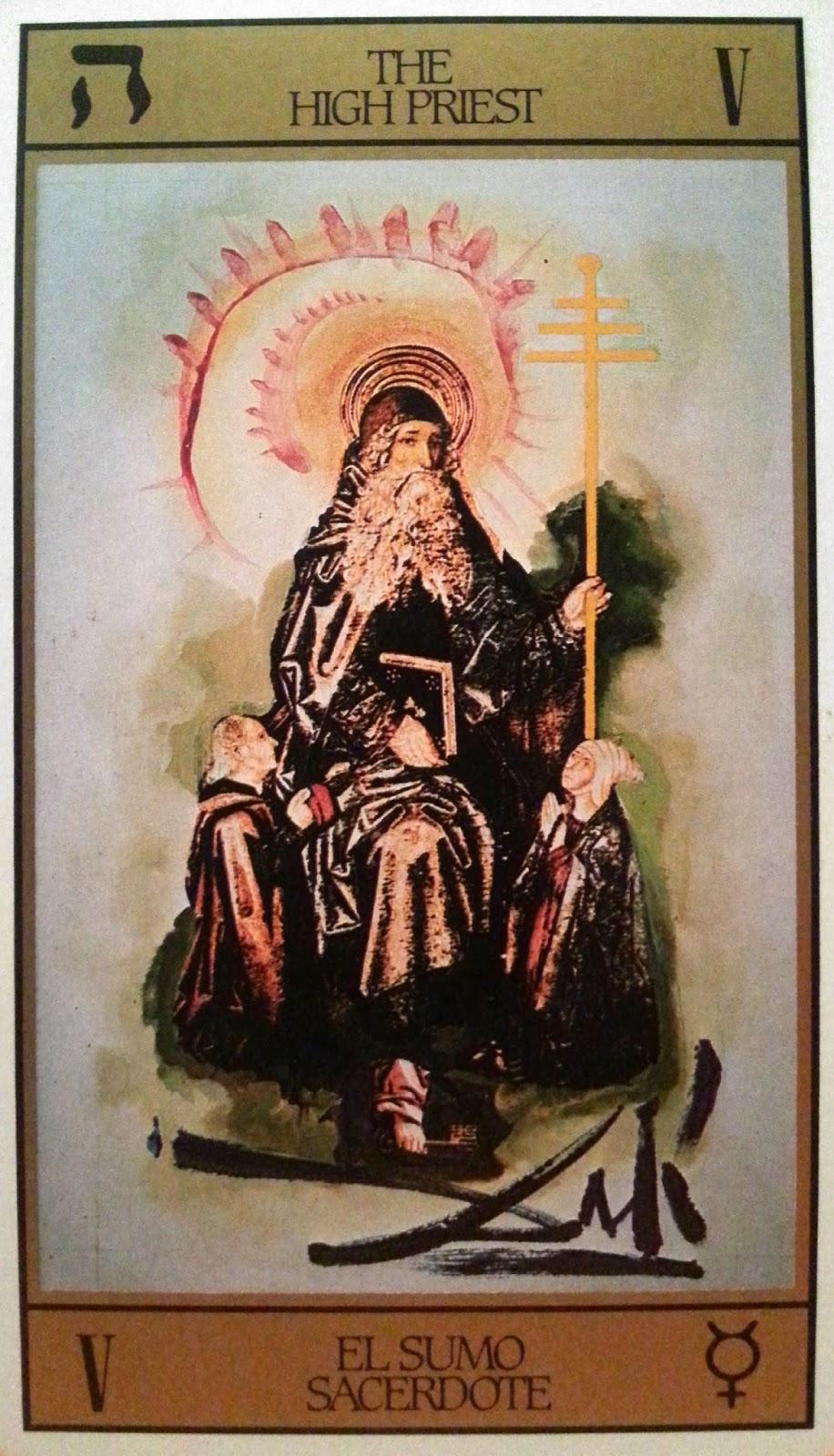 El Sumo Sacerdote. Tarot de Dalí