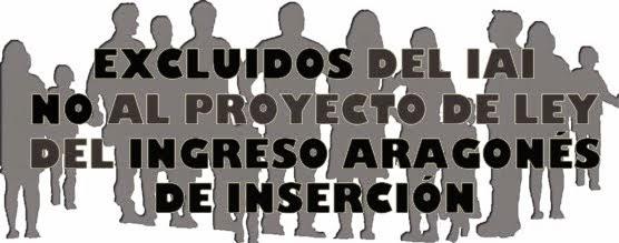 NO AL PROYECTO DE LEY DEL INGRESO ARAGONÉS DE INSERCIÓN