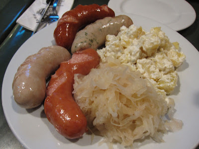 Platter of German Sausages at Singapore's Brauhaus