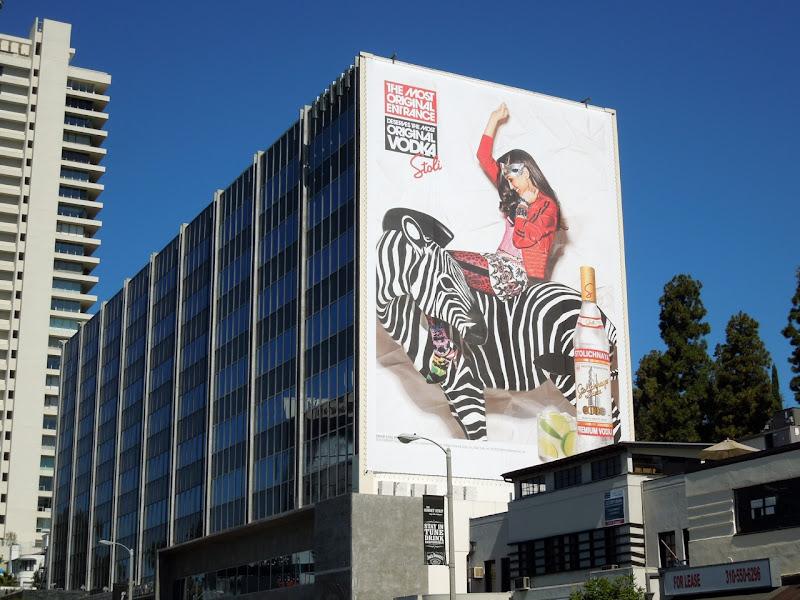 Stoli vodka zebra 2012 billboard