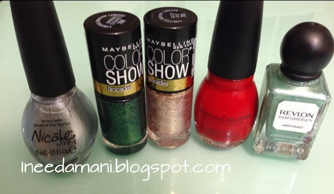 revlon parfumerie wintermint nicole opi always a silver lining maybelline color show brocades emerald elegance gilded rose sinful colors gogo girl christmas tree nails