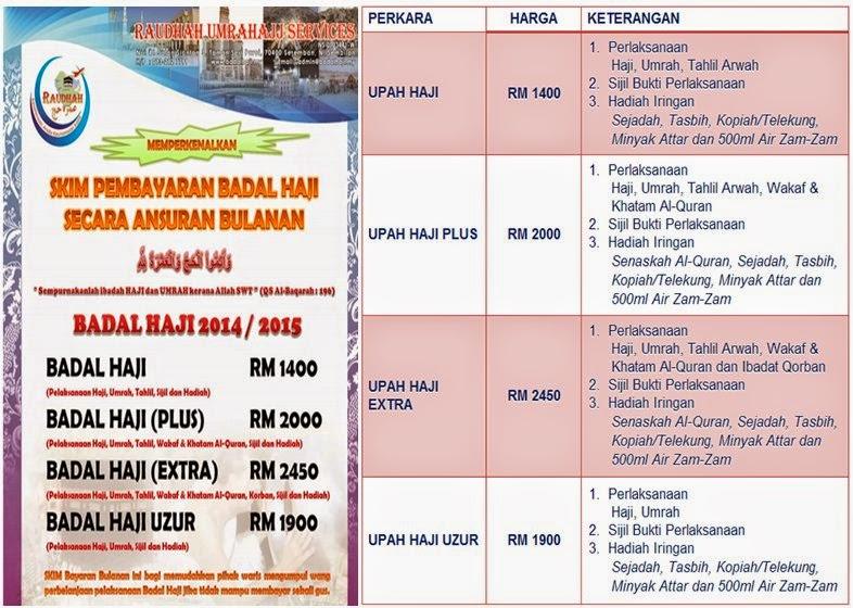 Badal Haji & Umrah RM1400