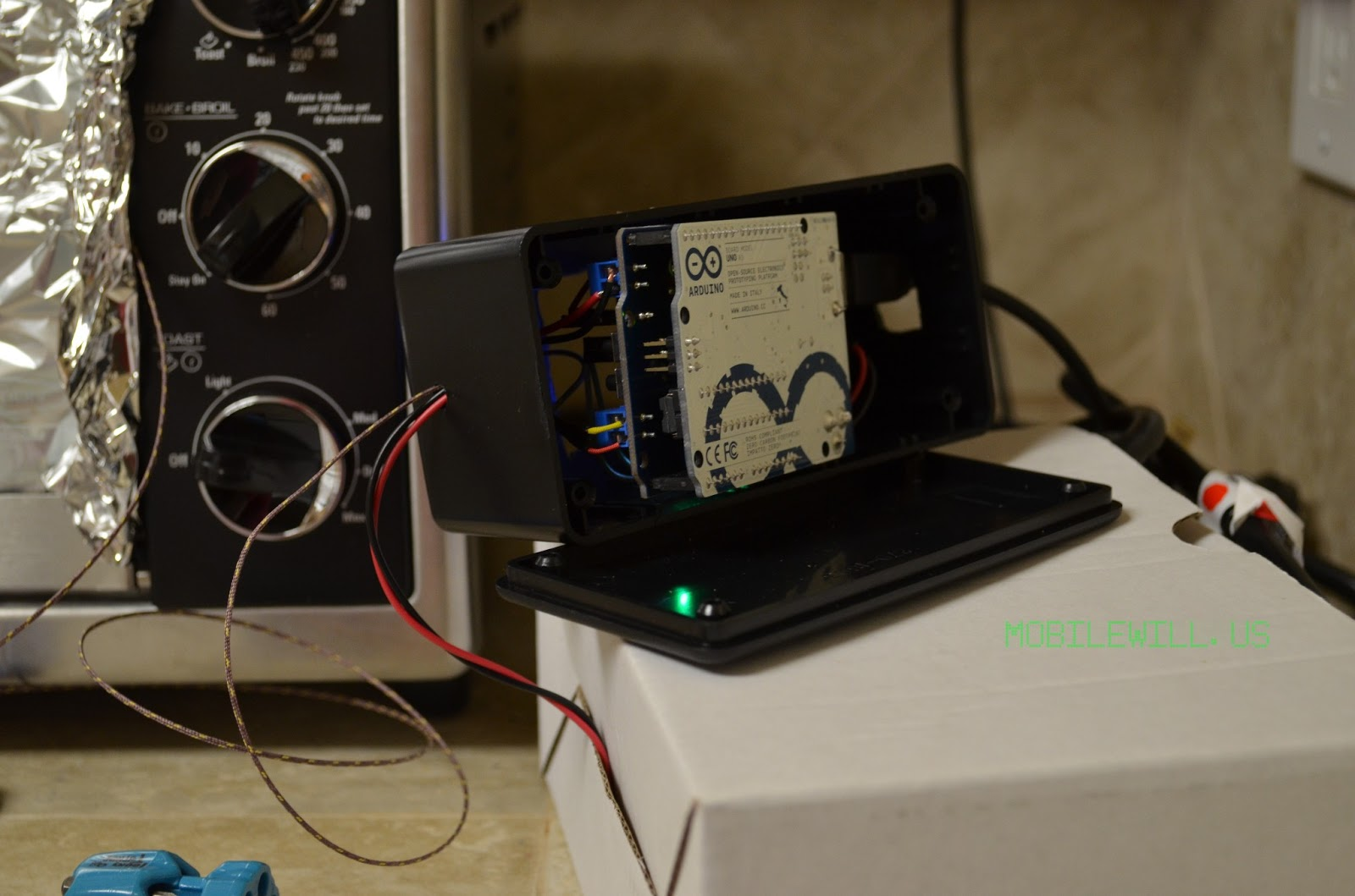 PID Controller open on top of high voltage box with SSR #254266