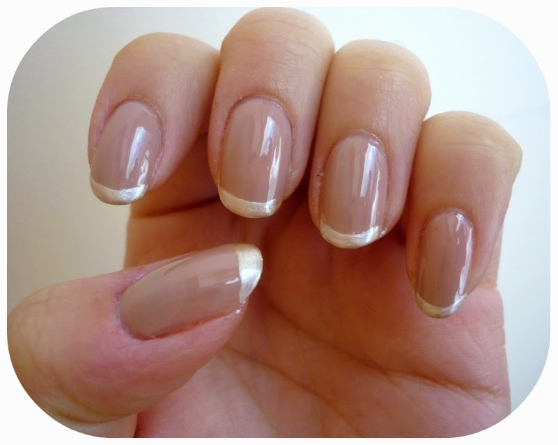 TUTORIAL: French Manicure with Metallic Tips | taken by surprise