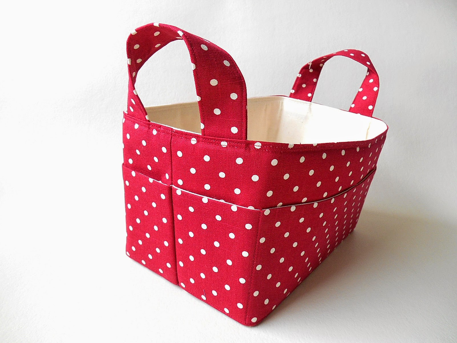 red dots sewing basket