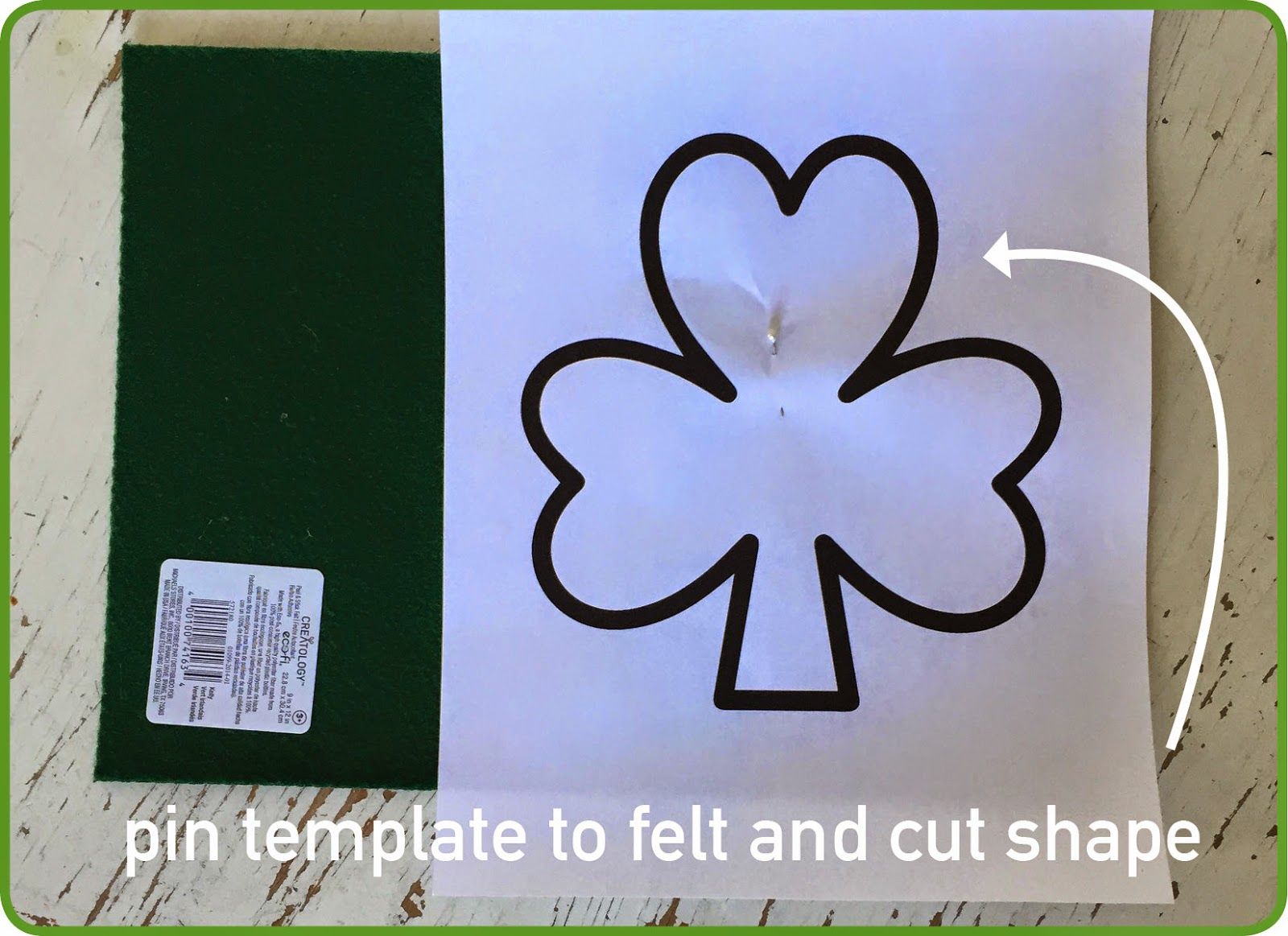 How to Cut a Shamrock Shape