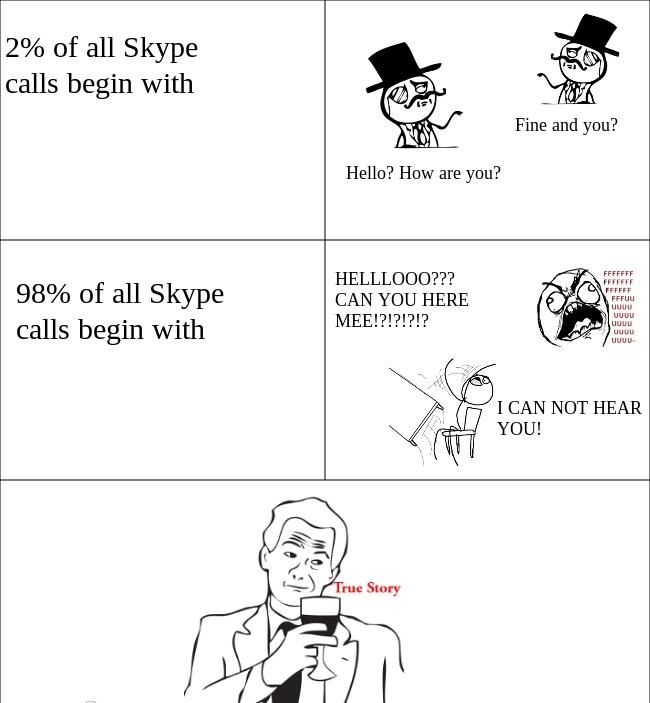 Skype Calls Funny Meme