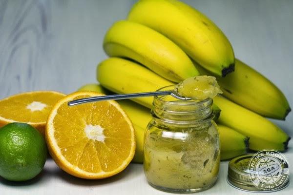 Bananenconfituur met munt