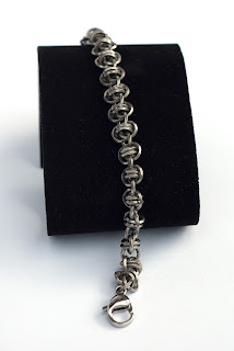 Chainmaille Armband Barrel Weav Twist of Faith Edelstahl