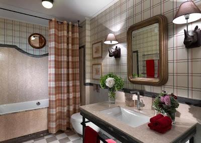 Amenajari interioare bai apartament vati obisnuit cu nuante tari de culori..amenajare baie moderna la bloc sau la casa..amenajare baie de vis la tara