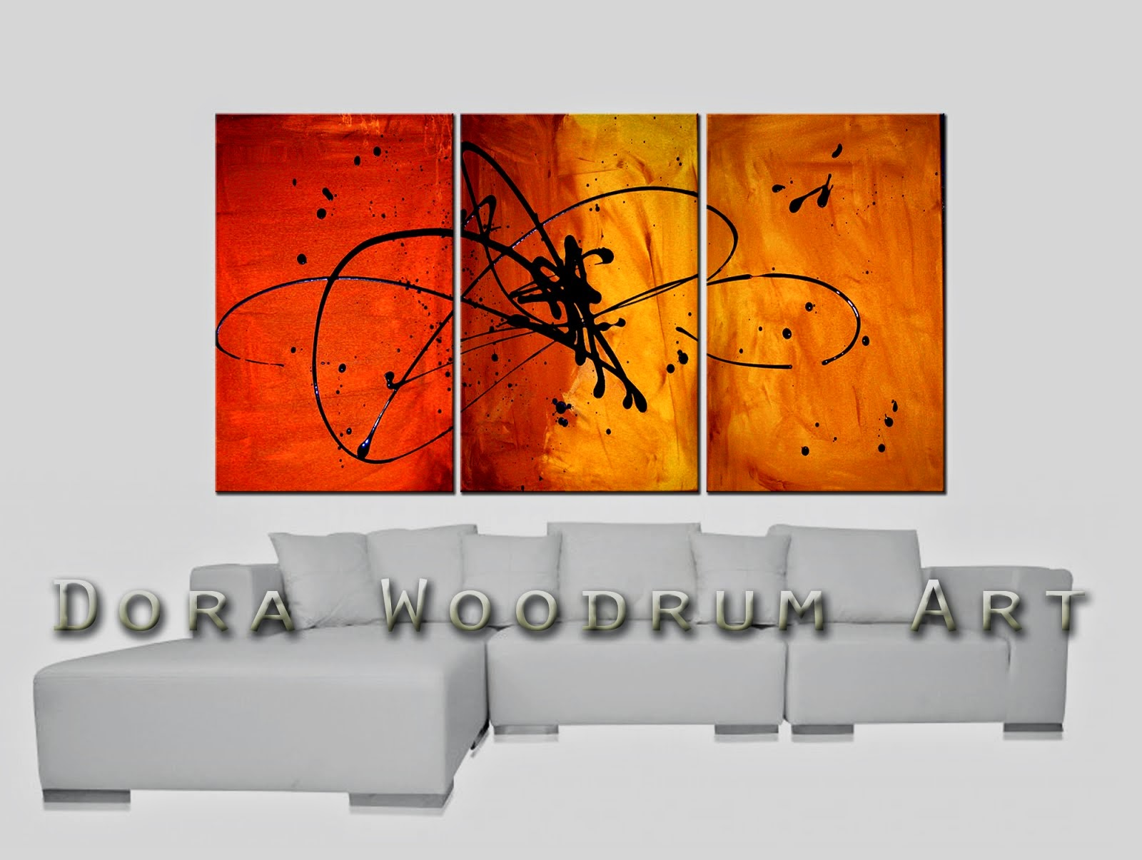 "Original Abstract Painting ""In The Beginning"" by Artist Dora Woodrum"