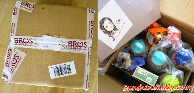 package from BROS, online shopping, safe water bottle, BROS e-Store, safe water bottle BROS e-Store