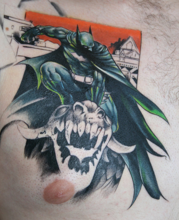 Batman Tattoo Chest Piece