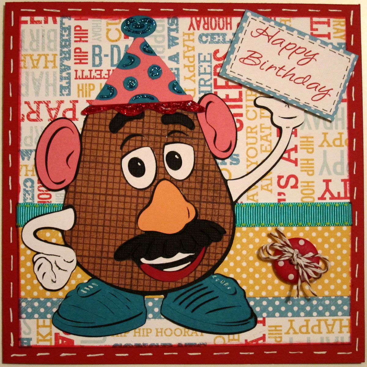 BugBites Happy Birthday to You – Mr Potato Head Birthday Card