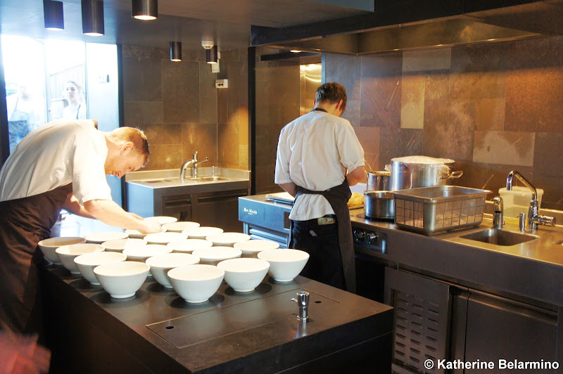 Plating Area at noma Copenhagen Denmark