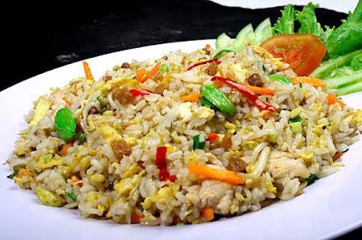 nasi goreng ikan asin petai paling enak