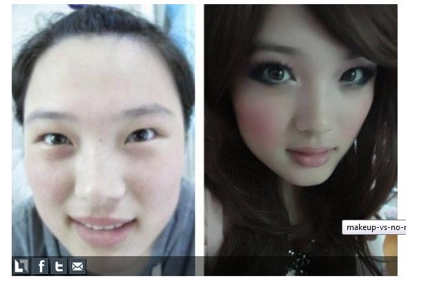 Makeup Transformation Before And After Asian