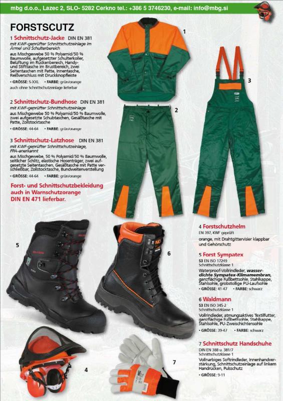 Profesionalna Oprema za varno delo v gozdu! - Forstschutz