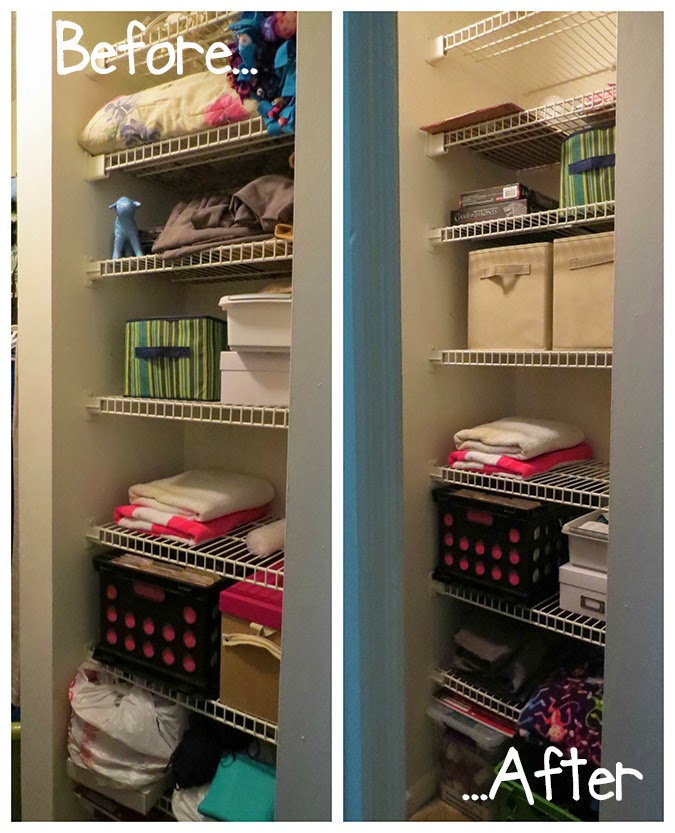 Closet Shelf Organization