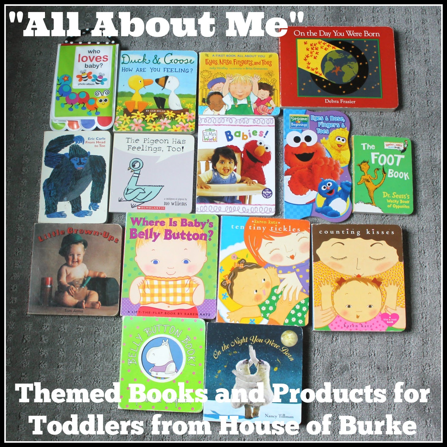 Book Cover Ideas For Preschool : House of burke quot all about me themed books and products