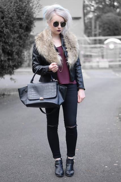 Sammi Jackson - Burgundy + Fur