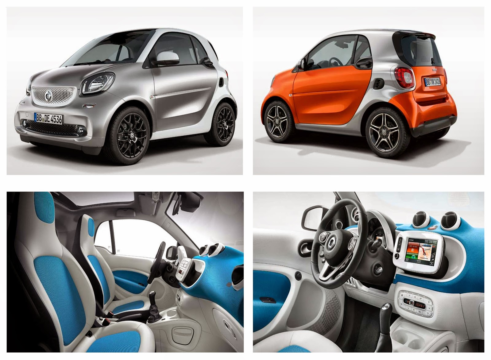 2016 Smart Forfour. Images via Smart.com